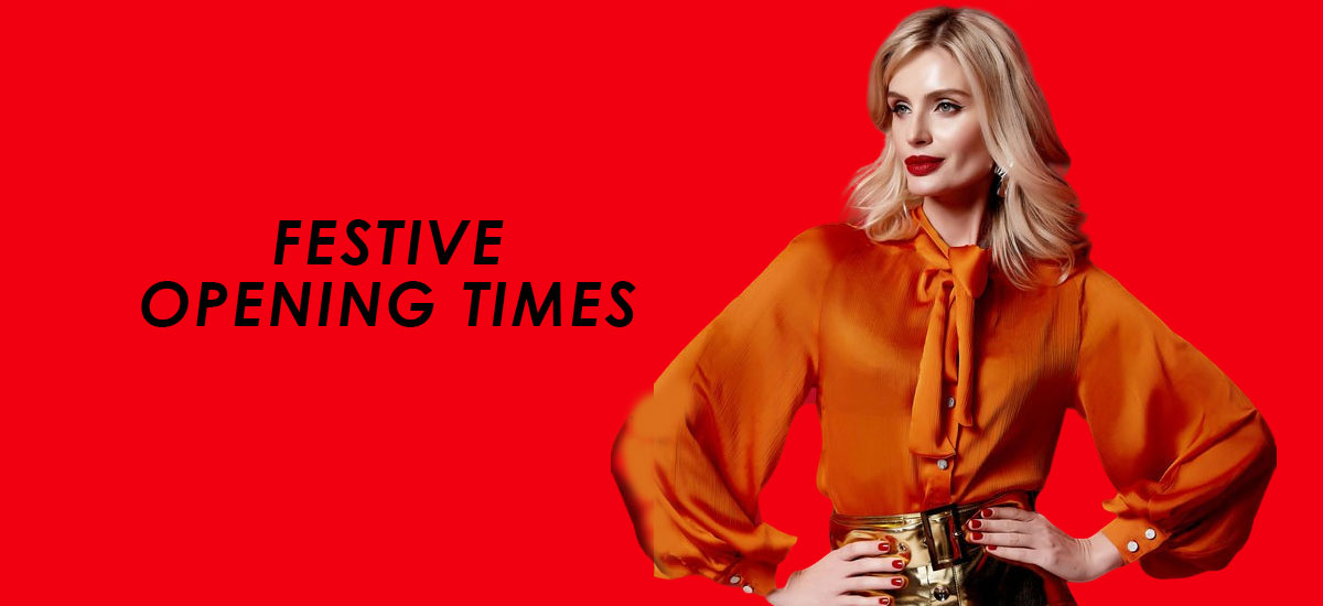 Festive Opening Times banner